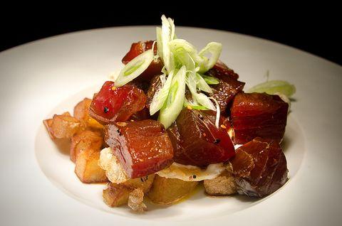 Food, Dishware, Cuisine, Ingredient, Meat, Dish, Plate, Garnish, Produce, Serveware,