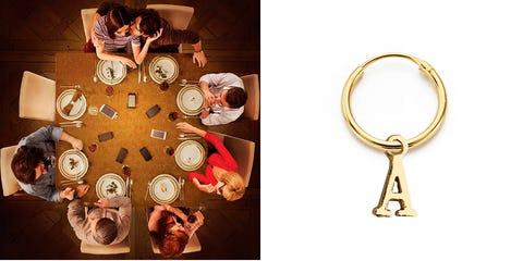 Keychain, Fashion accessory, Peach, Table,