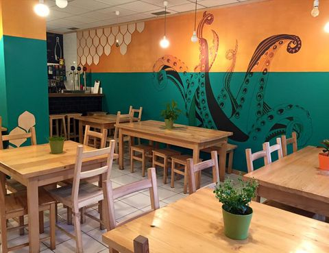 Wood, Lighting, Room, Flowerpot, Interior design, Table, Furniture, Hardwood, Interior design, Light fixture,