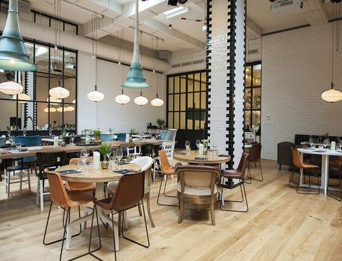Lighting, Wood, Interior design, Room, Furniture, Table, Light fixture, Floor, Ceiling fixture, Ceiling,
