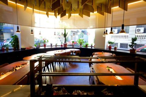 Lighting, Interior design, Ceiling, Interior design, Light fixture, Houseplant, Design, Hall, Lobby,