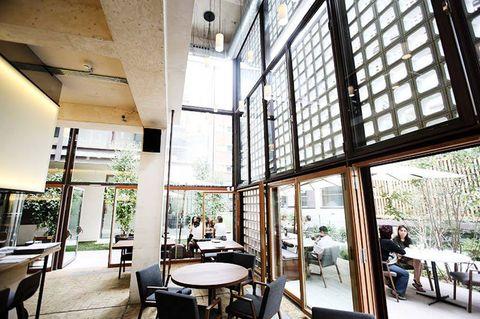 Lighting, Interior design, Glass, Architecture, Table, Furniture, Ceiling, Fixture, Interior design, Daylighting,