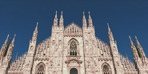 Blue, Architecture, Facade, Spire, Landmark, Gothic architecture, Medieval architecture, Cathedral, Classical architecture, Palace,