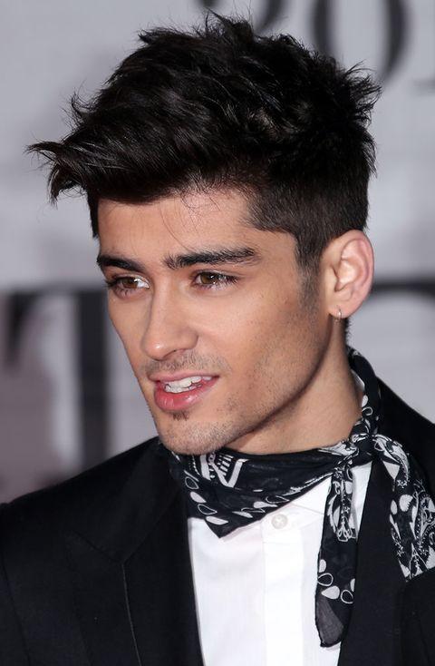 Clothing, Ear, Lip, Hairstyle, Collar, Dress shirt, Chin, Forehead, Eyebrow, Black hair,