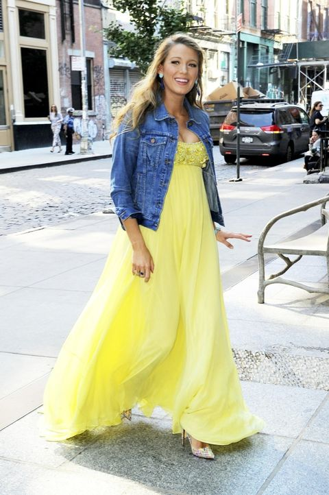 Yellow, Textile, Style, Street fashion, Dress, Fashion, Youth, Long hair, Electric blue, Gown,