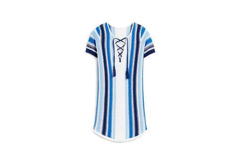 Sleeve, Collar, Textile, Jersey, Electric blue, Pattern, Azure, Aqua, Cobalt blue, Sports jersey,