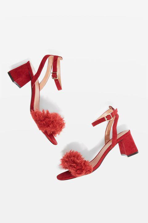 Footwear, Red, High heels, Shoe, Sandal, Carmine, Court shoe,