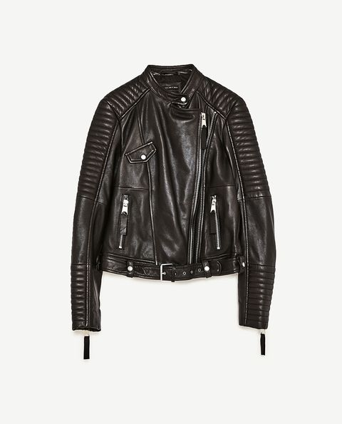 Clothing, Jacket, Leather, Leather jacket, Outerwear, Sleeve, Textile, Top, Zipper,