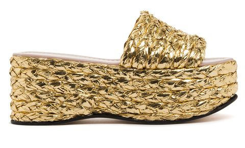 Beige, Tan, Natural material, Synthetic rubber, Wedge, Wicker,