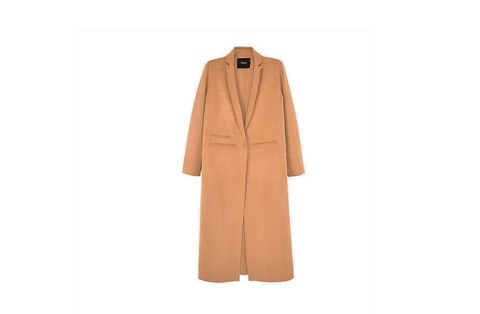 Brown, Product, Sleeve, Collar, Textile, Outerwear, Coat, Khaki, Orange, Tan,