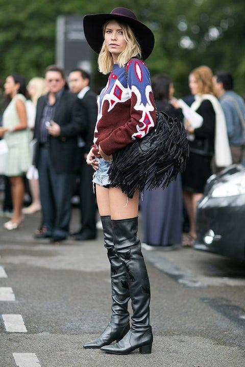 Clothing, Leg, Hat, Shirt, Outerwear, Style, Boot, Street fashion, Shorts, Sun hat,