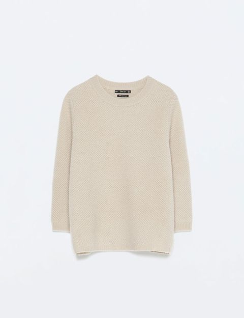 Product, Sleeve, Textile, Sweater, Grey, Beige, Woolen, Wool, Active shirt, Woven fabric,