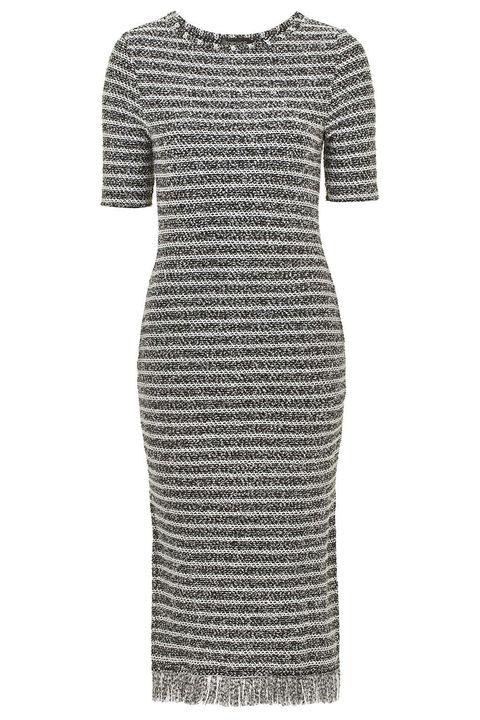 Sleeve, Dress, Pattern, One-piece garment, Style, Day dress, Grey, Pattern, Fashion design, Cocktail dress,
