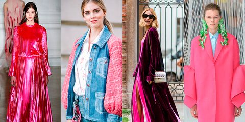 Clothing, Pink, Fashion, Formal wear, Red, Magenta, Outerwear, Fashion model, Dress, Suit,