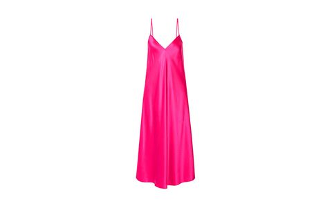 Pink, Clothing, Dress, Magenta, Day dress, Outerwear, A-line, Nightgown, Gown,