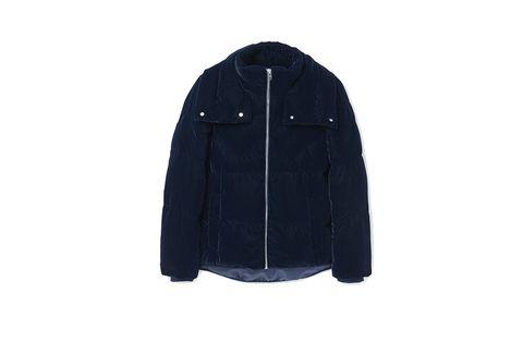 Jacket, Sleeve, Textile, Coat, Outerwear, Collar, Electric blue, Sweatshirt, Zipper, Hood,