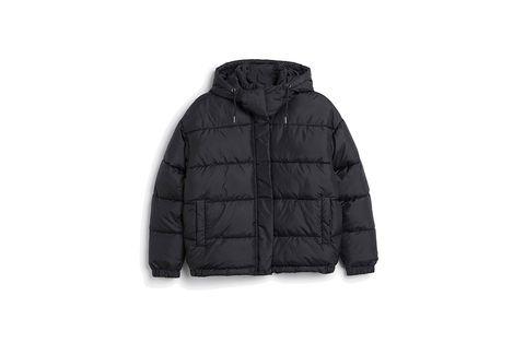 Clothing, Jacket, Sleeve, Textile, Outerwear, Coat, Collar, Hood, Black, Fur,
