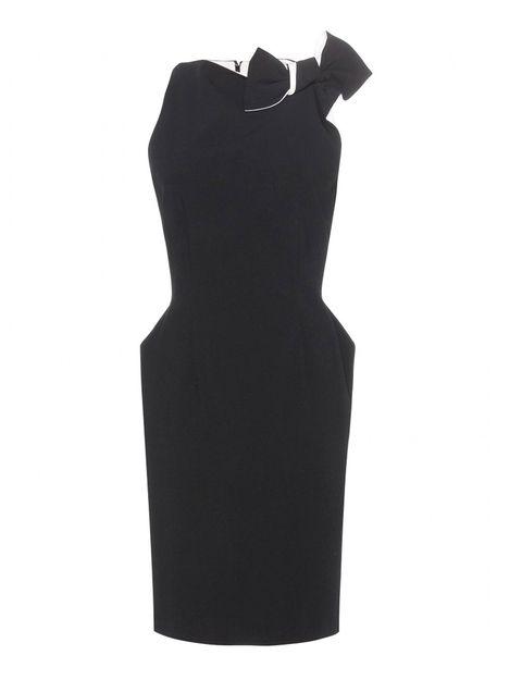 Black, One-piece garment, Day dress, Pattern,