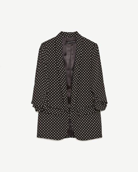 Collar, Sleeve, Dress shirt, Textile, Pattern, Style, Polka dot, Clothes hanger, Button, Pattern,