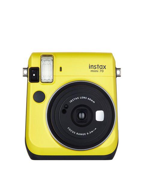 Camera, Cameras & optics, Digital camera, Camera accessory, Point-and-shoot camera, Yellow, Flash, Product, Disposable camera, Camera lens,