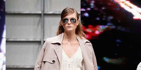 Eyewear, Textile, Outerwear, Fashion show, Style, Sunglasses, Fashion model, Street fashion, Fashion accessory, Fashion,