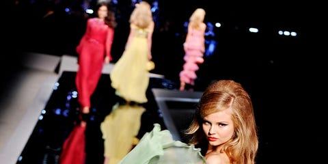 Fashion, Fashion model, Costume design, Costume, High heels, Long hair, Fictional character, Gown, Model, Fashion design,