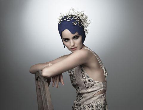 Headpiece, Hair accessory, Clothing, Beauty, Head, Fashion, Headgear, Fashion accessory, Dress, Crown,