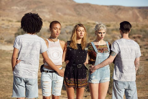 Hair, People, Denim, Social group, jean short, Summer, People in nature, Shorts, Youth, Friendship,
