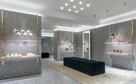 Room, Floor, Interior design, Wall, Flooring, Ceiling, Interior design, Tile, Grey, Light fixture,