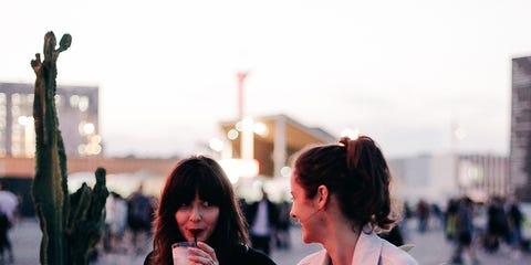 Photograph, Snapshot, Beauty, Fashion, Street fashion, Friendship, Interaction, Black hair, Photography, Conversation,