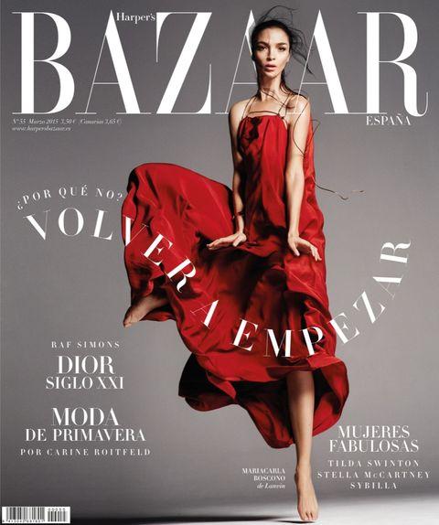 Clothing, Human body, Dress, Red, Poster, One-piece garment, Fashion model, Fashion, Model, Advertising,