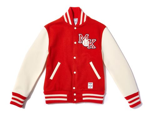 Product, Collar, Sleeve, Jersey, Textile, Sportswear, Red, White, Uniform, Jacket,
