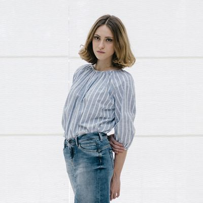 Clothing, Sleeve, Trousers, Human body, Collar, Denim, Shoulder, Jeans, Textile, Photograph,