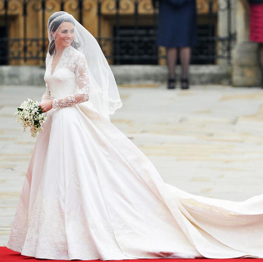 el vestido de novia de kate middleton, firmado por alexander mcqueen