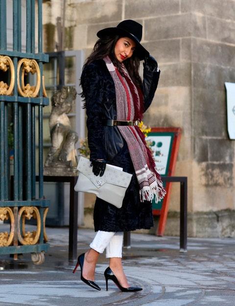 Clothing, Hat, Shoe, Outerwear, Coat, Style, Fashion accessory, Street fashion, Bag, Sun hat,