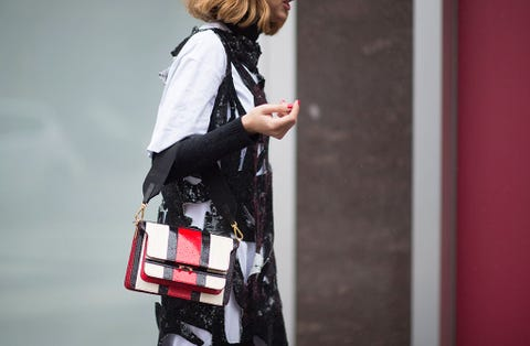 Bag, Street fashion, Carmine, Luggage and bags, Waist, Shoulder bag, Backpack, Belt, Hair coloring, Handbag,