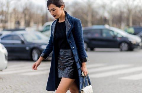 Clothing, Sleeve, Human body, Outerwear, Collar, Street fashion, Style, Bag, Fashion accessory, Jacket,