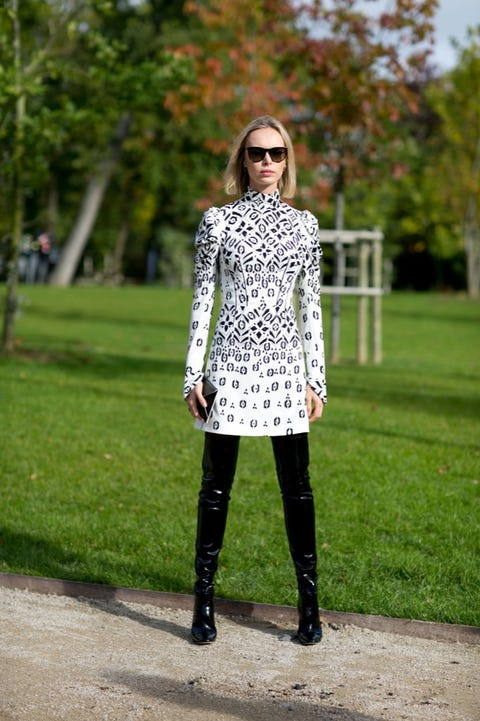 Clothing, Green, Textile, Outerwear, Boot, Sunglasses, Style, Street fashion, Fashion accessory, Fashion,