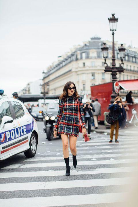 Street fashion, Fashion, Snapshot, Vehicle, Tartan, Car, Design, Pattern, Kilt, Plaid,