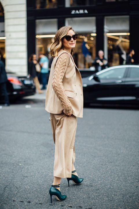 Clothing, Street fashion, White, Fashion, Coat, Snapshot, Outerwear, Footwear, Sunglasses, Beige,