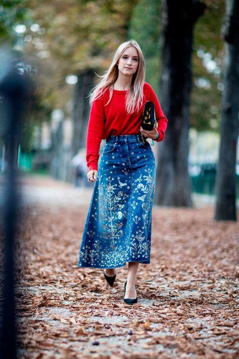 Cobalt blue, Clothing, Blue, Red, Street fashion, Electric blue, Fashion, Dress, Beauty, Shoulder,