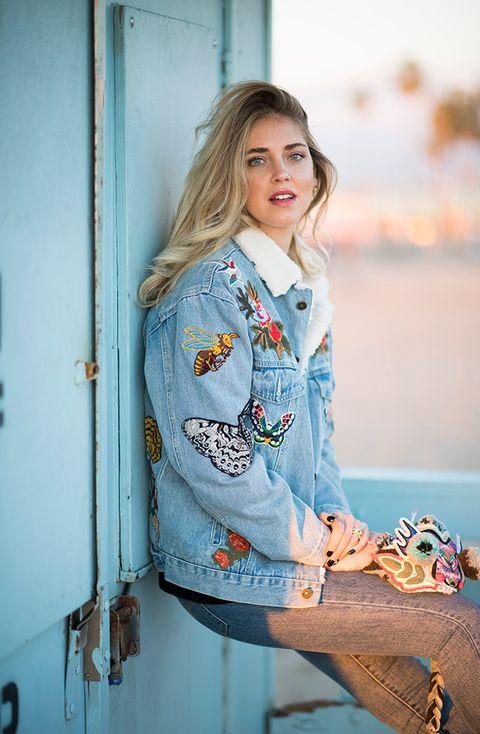 Clothing, Blue, Beauty, Outerwear, Fashion, Yellow, Street fashion, Jeans, Denim, Blond,
