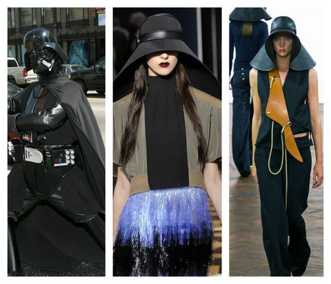 Clothing, Street fashion, Fashion, Outerwear, Jacket, Headgear, Coat, Fur, Hat, Overcoat,