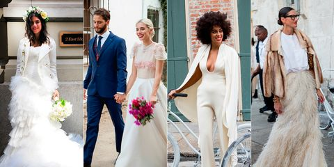 Clothing, Trousers, Bridal clothing, Dress, Coat, Photograph, Wedding dress, Bride, Outerwear, White,