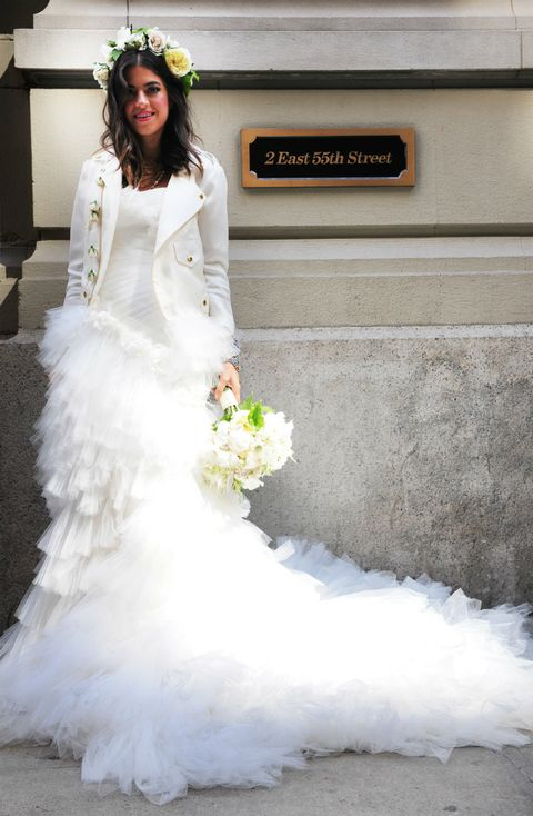 Gown, Wedding dress, Bride, Dress, Clothing, Bridal clothing, White, Photograph, Bridal party dress, Shoulder,