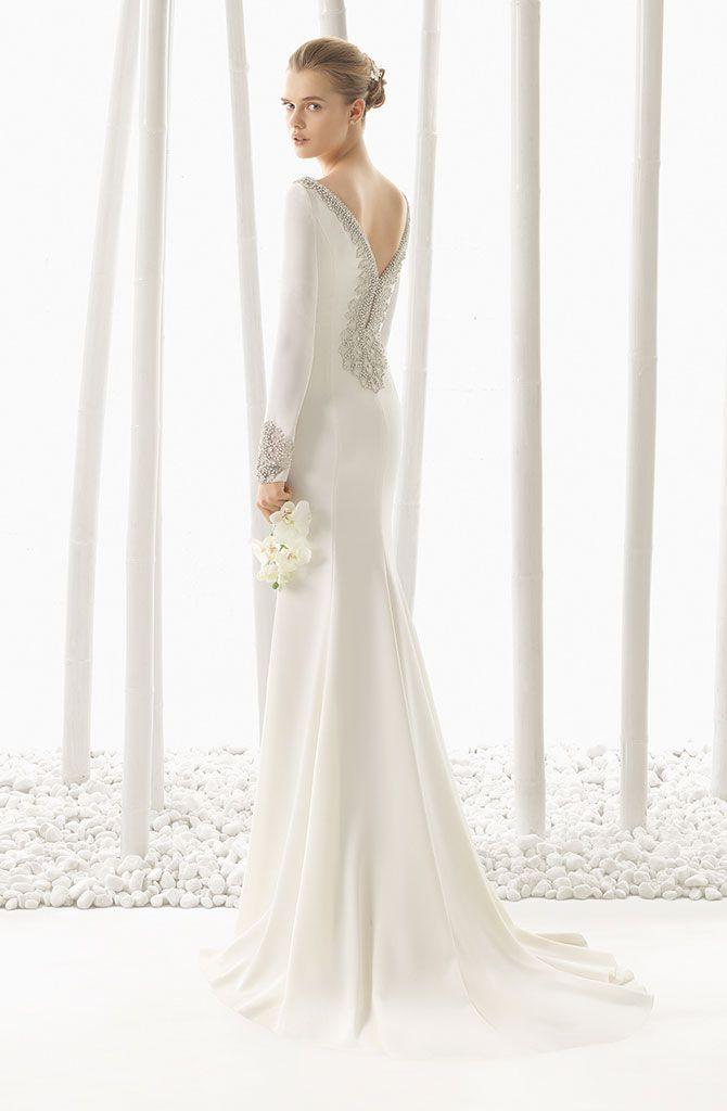 Vestidos de boda civil sencillos para invierno