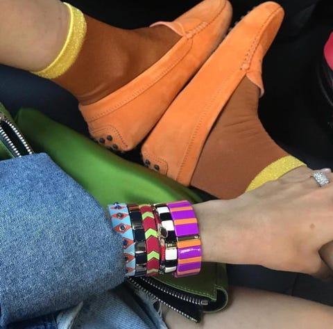 Ankle, Wrist, Footwear, Arm, Fashion accessory, Hand, Joint, Leg, Finger, Human leg,