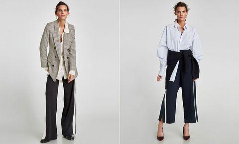 c3577c1b85 La obsesión de Zara esta semana es esta: pantalón ancho con banda lateral y  camisa © Zara.com