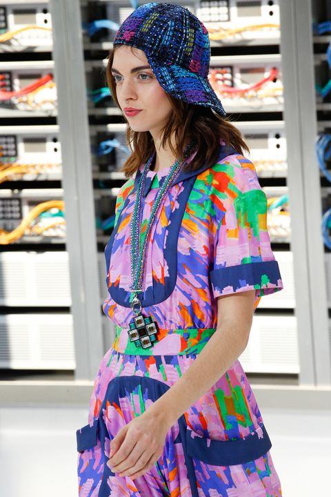 Clothing, Street fashion, Blue, Fashion, Shoulder, Beauty, Electric blue, Sleeve, Pattern, Textile,