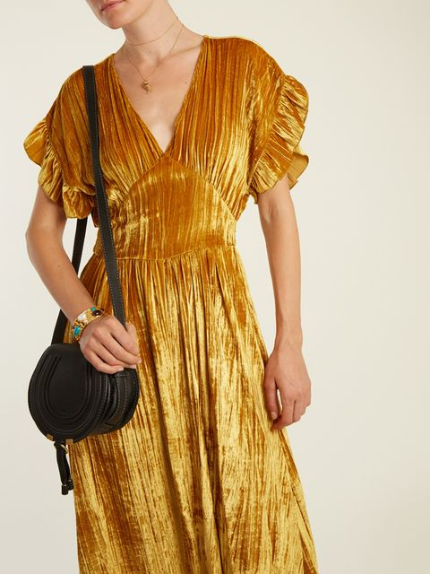 Clothing, Dress, Day dress, Yellow, Shoulder, Cocktail dress, Neck, Fashion, Sleeve, Vintage clothing,